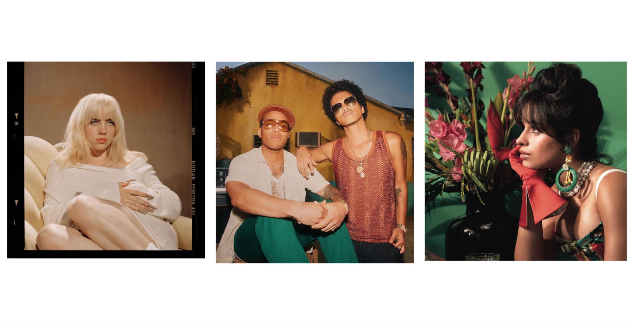 Billie Eilish, Silk Sonic, Anderson Paak, Camilla Cabello, Music Video Releases