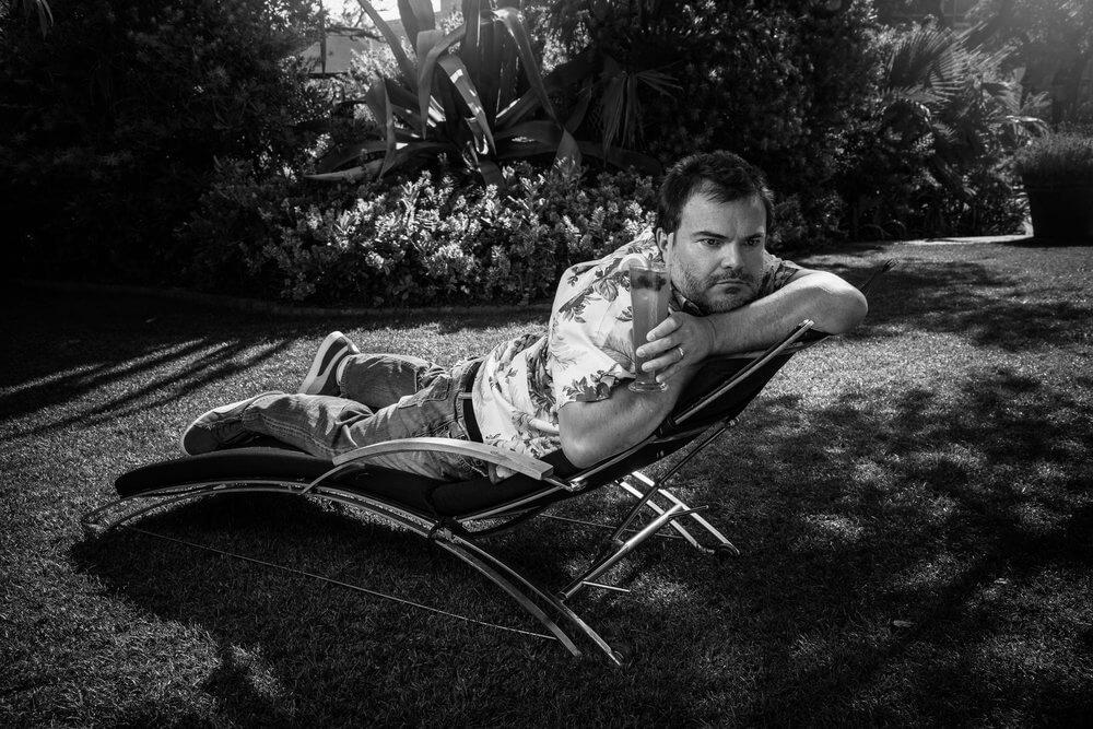 Jack Black lounging on his birthday